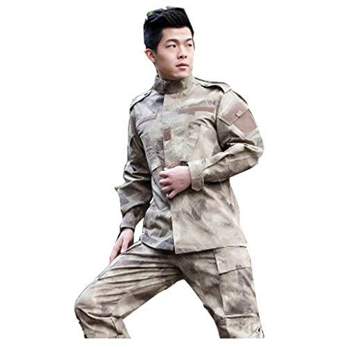 KLEDDP Camouflage Tactical Suit Game Armee Jagd Schießen Wüste Camouflage Suit Herren Camouflage Kleidung Mit Hemd Mit Hosen Uniform Tarnen (Size : L(180-185))