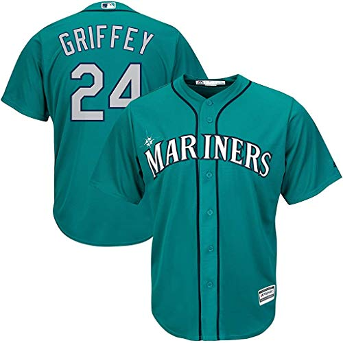 Ken Griffey Jr Seattle Mariners Youth 8-20 Teal AlternateCool Base Replica Jersey (Large 14/16)