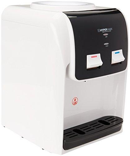 Hypermark HM0038W Dispensador de Agua Springwater de Mesa, color Blanco/Negro, 2 Llaves