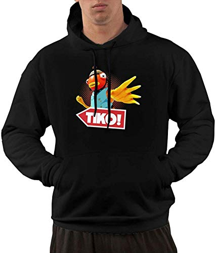 Men's Hoodies T-i-k-o Hero Hooded Shirts with Front Pocket Pullover Sweatshirt,Medium