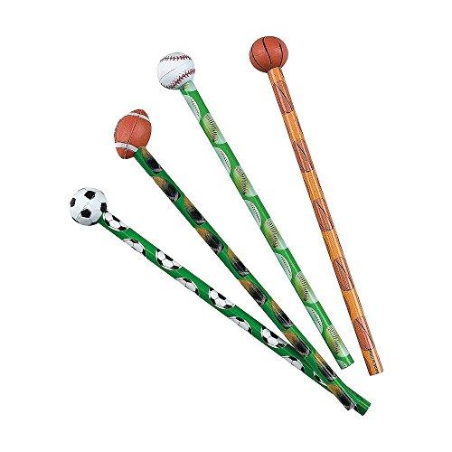 Elfen und Zwerge 8 x Bleistifte Kindergeburtstag Ball Fußball Basketball Giveaway Mitgebsel Radiergummi Geburtstag Party Jungen