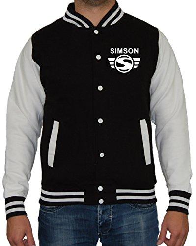 Artshirt-Factory Simson M2 Jacke (S, Schwarz/Weiß)