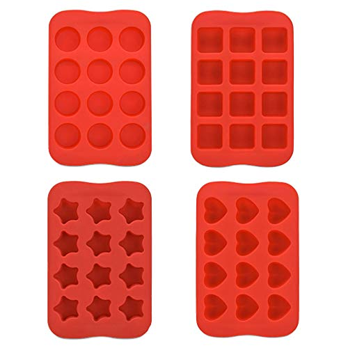 Hot sale Silicone Freeze Mold, Wulofs♥ Bar Pudding Jelly Chocolate Maker Mold 12 Ice Cube,4pc totally different form circle sq. star coronary heart