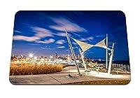 22cmx18cm マウスパッド (シカゴの夜の街の空の建築) パターンカスタムの マウスパッド