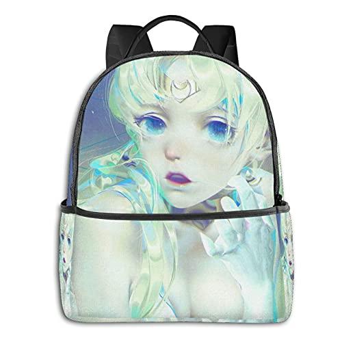 Sailor Moon Mochila con cremallera suave bolsa de viaje para ocio portátil estudiante universidad escuela escuela ciclismo ocio camping al aire libre