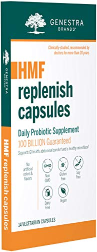 Genestra Brands - HMF Replenish Capsules - Five Strains of Probiotics to Promote GI Health - 14 Capsules