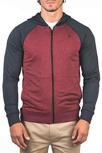 Hurley M Dri-Fit Disperse Full Zip Sudadera, Hombre, Gym Red, S