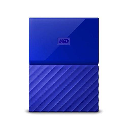 WD My Passport Mobile WDBYFT0020BBL-WESN 2TB  Externe Festplatte (6,4 cm (2,5 Zoll), mit Kennwortschutz, Standard Oberfläche) Blau