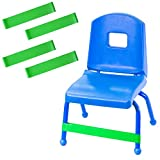 Peachey Goods Sensory Chair Bands (4-Pack) - ADHD Bands to Relieve Anxiety, Frustration, Hyperactivity - Sensory Bands for Kids - Rubber Bands for Chairs - Fidget Bands for Chairs