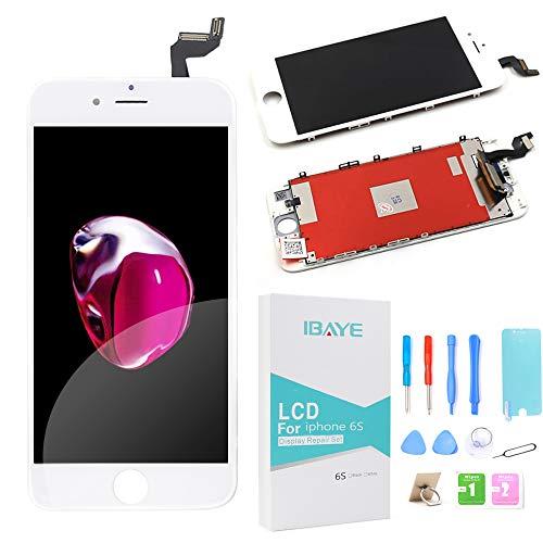 Ibaye Display LCD Touch Screen Frame per iPhone 6S Bianco Vetro Schermo Kit Smontaggio trasformazione Completo di Ricambio