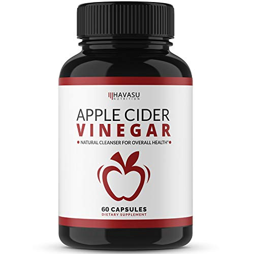 Havasu Nutrition Apple Cider Vinegar Capsules with 500mg Apple Cider Vinegar and 20mg Cayenne Pepper - Bloating Relief and Appetite Suppressant; Non-GMO; 60 Capsules for Men and Women