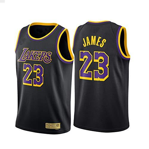 JQER 2021 lèbron jāmēs # 23 Hombre de Baloncesto Masculino Jersey, Lakers Bordado Swingman Jersey Malla Transpirable sin Mangas Chalecos Tops Camiseta Uniformes Limpieza Black-S