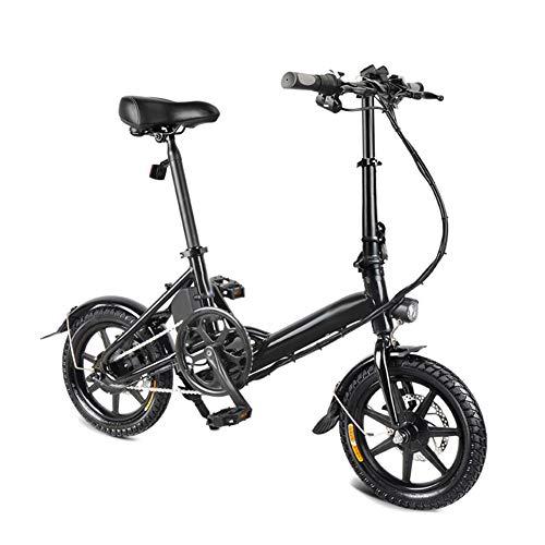 Zoomarlous E Bike, Elektrofahrrad, Elektrisches Faltrad, Faltrad Faltbare Fahrrad Doppelscheibenbremse Tragbare für Radfahren, Höchstgeschwindigkeit 25 km/h, Lieferung innerhalb von 10 Tagen