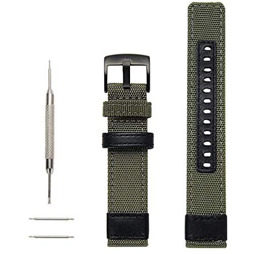 NICERIO compatível com Samsung Galaxy Gear S3 Classic/Gear S3 Frontier Pulseiras de 46 mm – 22 mm de liberação rápida pulseira esportiva de nylon com fivela de metal e ferramentas de reparo – Preto, Picture 1, 24*2.6cm
