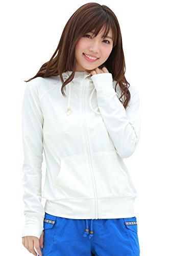 [アプラージュ]UPLAGE ラッシュガード レディース 水着 体型カバー 長袖 UVカット UPF50+ 指穴付き 着痩せ 速乾 LL 3L 4L 5L RS0027 ヤシ柄 3L