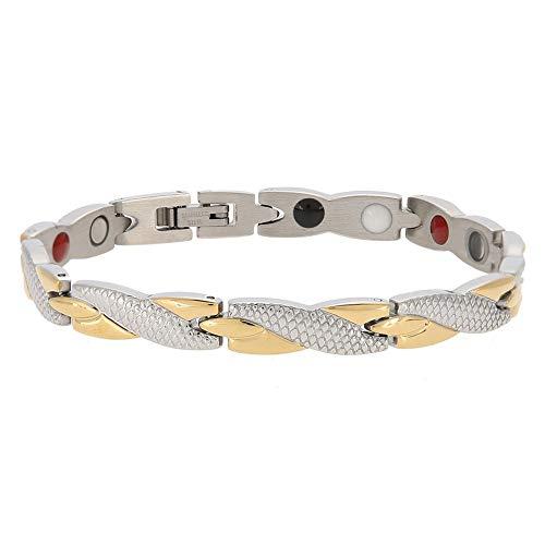 Pulseira magnética de aço de titânio, personalidade saudável de aço inoxidável ímã pulseira serpentina item de moda jóias