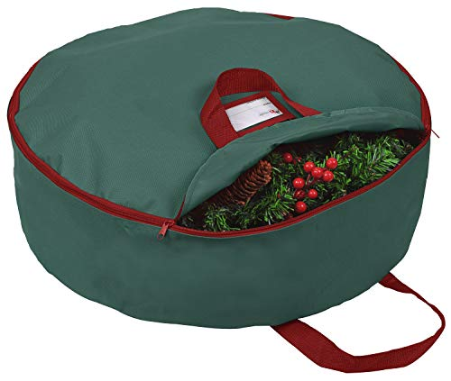 """Primode Christmas Wreath Storage Bag 36'- Handles Made of Durable 600D Oxford Polyester Material Storage Bag 36"""" Holiday Wreaths"""