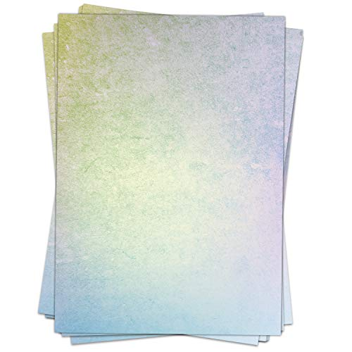 50 Blatt Briefpapier (A4) | Regenbogen Struktur | Motivpapier | edles Design Papier | beidseitig bedruckt | Bastelpapier | 90 g/m²