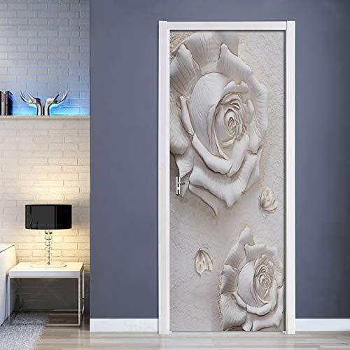 Moderno En Relieve Rosa Mariposa Puerta Pegatina Sala De Estar Dormitorio Autoadhesivo Impermeable Mural Papel Tapiz para Paredes Pegatinas 3 D