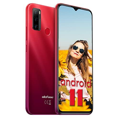Cellulare Offerta Ulefone Note 10 Smartphone Android 11, 6.52   Waterdrop Schermo, Batteria 5500mAh 2GB + 32GB Smartphone Offerta del Giorno, 8MP + 2MP Camera 4G Smartphone Dual SIM -Rosse