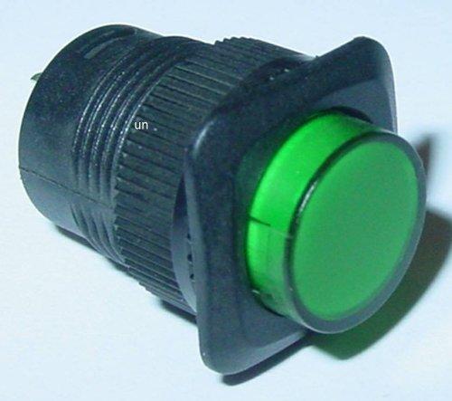 VS-ELECTRONIC - 300091 drukknop, LED-bel, groen R1394B/G