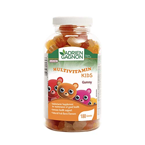 Adrien Gagnon - Multivitamin for Kids, Gummy Vitamins for Maintenance of Good Health and Immune Support, Burts of Natural Fruit Flavors, 180 Multivitamin Gummies