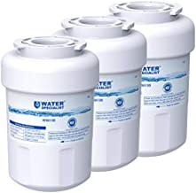 Waterspecialist MWF Water Filter for GE Refrigerator, Replacement for GE Smart Water Plus Filter, HDX FMG-1, MWFA, GWF, MWFP, PL-100, GSE25HMHBHES, GSS25GSHGCSS, 3 Filters for Fridge