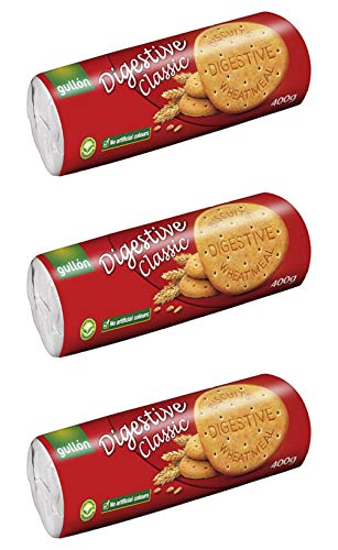 Gullon Digestive Biscuits Classic Cookies no Cholesterol 141 Ounce Pack of 3