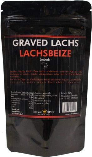 Lachsbeize Graved Lachs, für klassisch gebeizeten Lachs und Räucherlachs