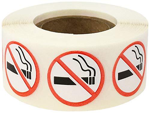 Niet Roken Logo Stickers, 19 mm 3/4 Inch Cirkel Waarschuwings Labels 500 Pak