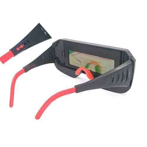 ADUCI 1pc energía Solar oscurecimiento automático de Soldadura Casco Protector Ojos Gafas de Soldador Soldadura Cap Lentes Filtro Máscara de la Lente for la Soldadura (tamaño : 108 * 50mm)