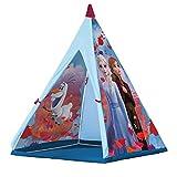 John 75107A Kunststoffstangen Disney Eiskönigin Tipi Spielzelt, Kinderzelt, Spielhaus mit Frozen 2...