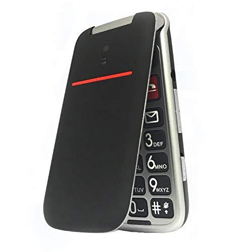 artfone CF241A Seniorenhandy ohne Vertrag | Dual SIM Handy mit Notruftaste | Rentner Handy große Tasten | 2G GSM Klapphandy| Großtastenhandy mit Ladegerät und Kamera|1000 mAh Akku Lange Standby-Zeit