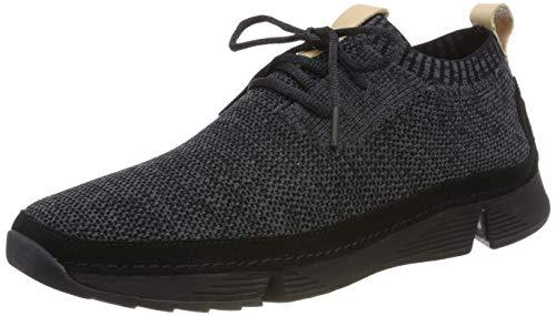 Clarks Herren Tri Native_Sneaker Niedrig, Schwarz (Black), 45 EU