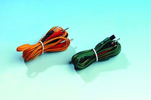 2 cavetti 4 poli per elettrostimolatore Tesmed te780plus, te780-b, adatti anche per te670 per utilizzare 8 elettrodi anzichè 4