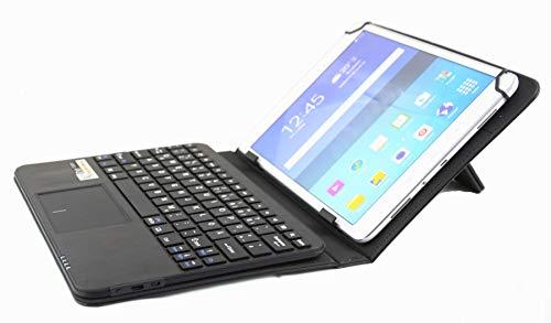 MQ pour Huawei MediaPad M3 lite 10 - Etui avec clavier et touchpad intégré, Clavier français (AZERTY) pour Huawei MediaPad M3, MediaPad M2, MediaPad T2 10 Pro, T1 9.6| Housse avec clavier bluetooth