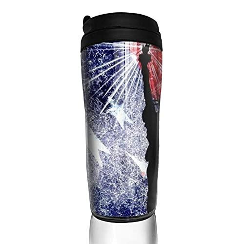 Taza de café con tapa Bandera estadounidense Estatua de la libertad Águila calva Vaso de viaje Taza aislada al vacío Botella de agua
