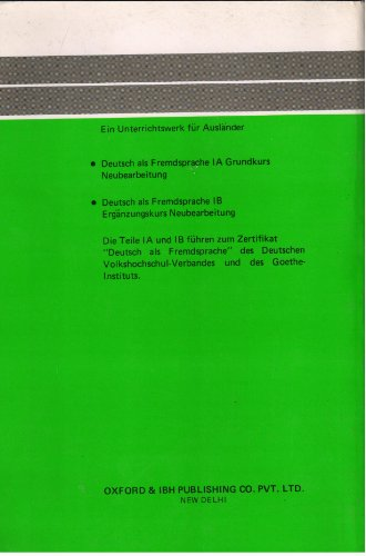 German As A Foreign Language 1A Structural Exercises And Tests (Pb 2020)