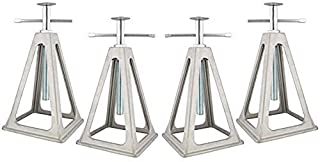 """Cynder 02047 Aluminum Stacker Stack Jacks, Stabilize, Level Your RV, Trailer Or Camper, Can Support Up to 6,000 lbs, Extends 17"""" (Set of 4)"""