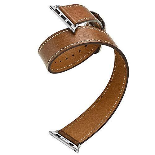 KTZAJO 2021 La última correa de cuero para reloj compatible con 5 bandas, 4 mm, 40 mm, correa de 42 mm, compatible con reloj de 38 m, pulsera de muñeca 4, 3 2