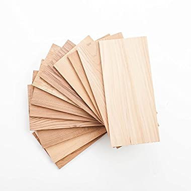 12 Cedar Grilling Planks for Salmon and More + 2 Free Planks (Hickory)