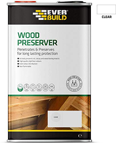 2 x Everbuild 1 Litre Clear Interior and Exterior Wood Preserver Solvent Free
