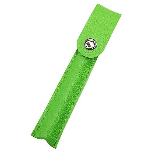 プルームテック ケース (グリーン) Ploom TECH ケース カバー PU レザー スリム コンパクト 合皮 シンプル 無地 電子タバコ 保護 収納 ポーチ ホルダー