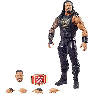 WWE Top Picks Elite Roman Reigns Action Figure with Universal Championship6 in Posable Collectible Gift for WWE Fans…