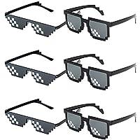 👓 【Menge】: Packung mit 6 paar 2 Muster Party Favors Sonnenbrille Set Geeignet für Frauen, Männer, Mädchen, Jungen, Kinder, Erwachsene insbesonders Memofans. 👓 【Material】: Diese Neuheit Sonnenbrille verfügen über einen randlosen Rahmen und gestaffelte...