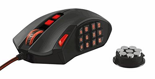 Trust GXT 166 MMO Laser Gaming Maus schwarz 16400 DPI Laser Sensor 18 programmierbare Tasten Onboard Speicher