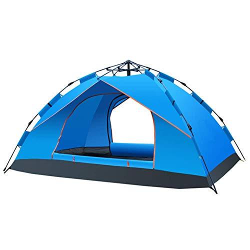 LUSHUN Campingzelt, Pop Up Wurfzelt 1-2 Person Mann, Tragbares Strand Zelt, mit Moskitoschutz, Kompaktes, für Familiengarten Camping Familiengarten Angeln,Blau