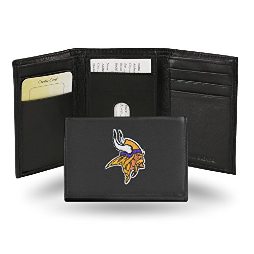 NFL Rico Industries  Embroidered Leather Trifold Wallet, Minnesota Vikings