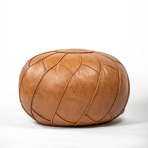 Moderner Faux Leather Pouf