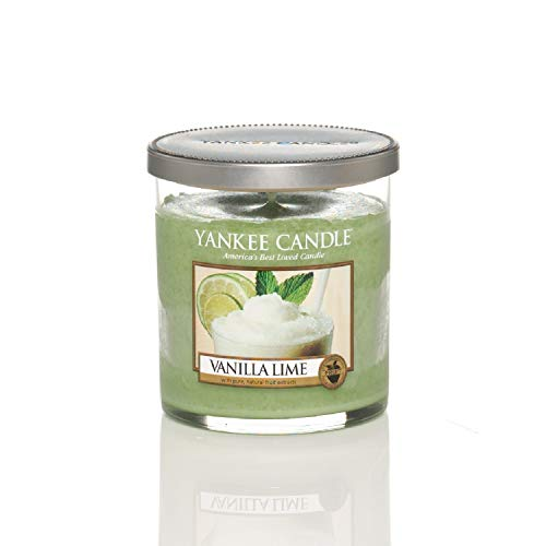 "Yankee Candle ""Vanilla Lime"" Pillar Candle, Green, Small"